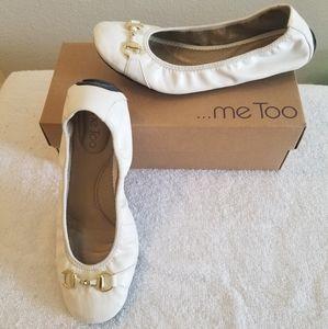 White Ballerina Flats